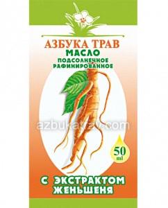 Масло женьшеня (подсолнечное, рафинированное), 50мл
