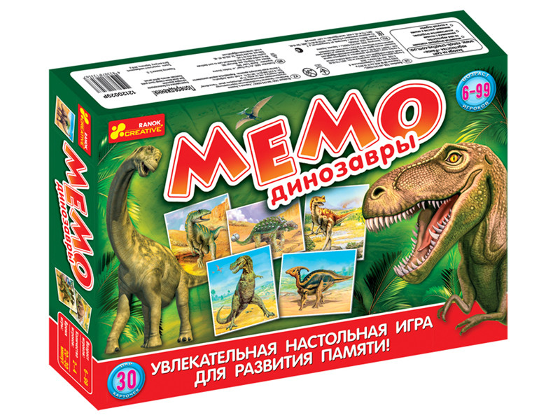 """Ranok 12120029Р Настольная игра """"Мемо: Динозавры"""""""