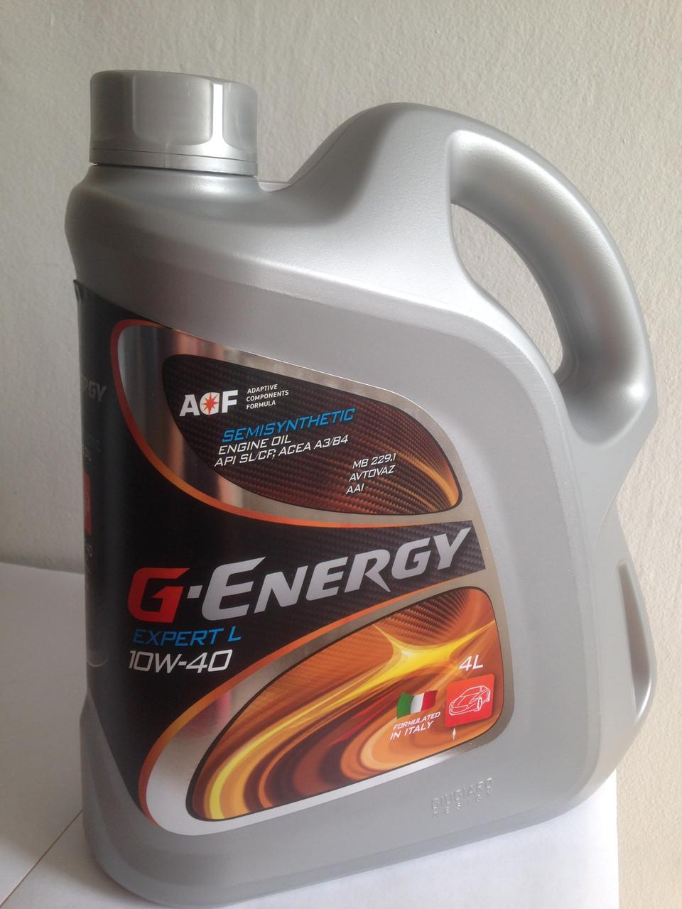 G-Energy Expert-L 10w40 полусинтетическое моторное масло 4л.