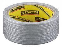 Армированная лента, STAYER 12080-50-50, универсальная, влагостойкая, 48мм х 45м, серебристая