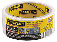 "Лента STAYER ""MASTER"" ""UNIVERSAL"" клейкая,армированная, влагостойкая. 48мм х 50м, белый"