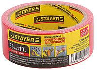 """Лента STAYER """"MASTER"""" """"UNIVERSAL"""" клейкая,армированная, влагостойкая. 48мм х 10м, красный"""