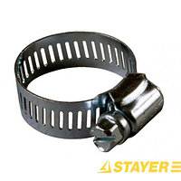 Хомуты STAYER стальные оцинкованые, ширина ленты 12,7мм, 57-76мм, 2шт