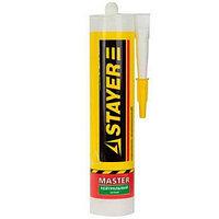 """Герметик STAYER """"MASTER"""" нейтральный силиконовый, белый, 260мл"""