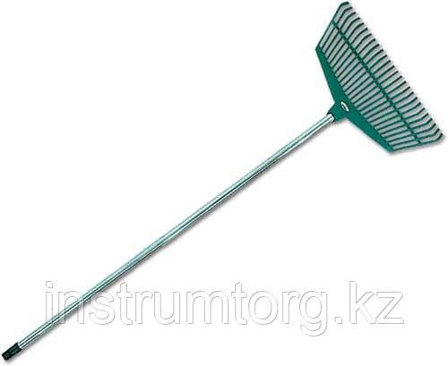 Грабли веерные RACO со стальной ручкой, 26 пласт. зубцов, 430мм