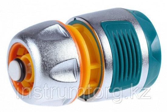 """RACO PROFI-PLUS 1/2"""", с автостопом, соединитель усиленный быстросъемный для шланга, из металла с TPR"""