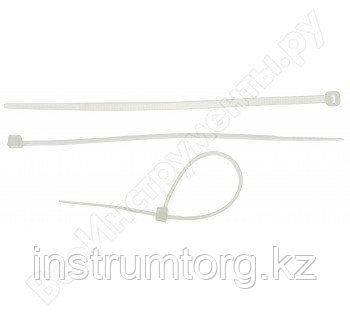 Кабельные стяжки белые КС-Б2, 4.8 х 300 мм, 25 шт, нейлоновые, ЗУБР Профессионал
