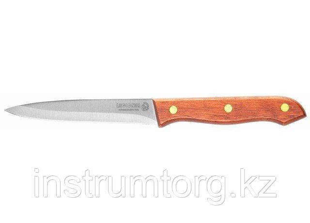 """Нож LEGIONER """"GERMANICA"""" универсальный, тип """"Line"""" с деревянной ручкой, нерж лезвие 110мм"""