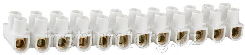 Колодки СВЕТОЗАР зажимные винтовые (КЗВ), макс. ток 3А, сечение подкл. проводов 4мм2