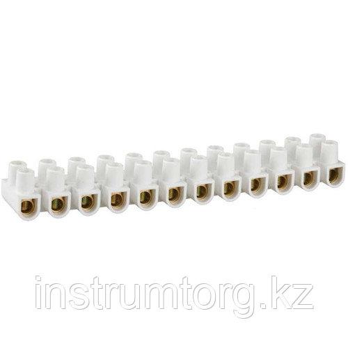 Колодки зажимные винтовые (КЗВ) , макс. ток 20А, сечение подкл. проводов 14мм2