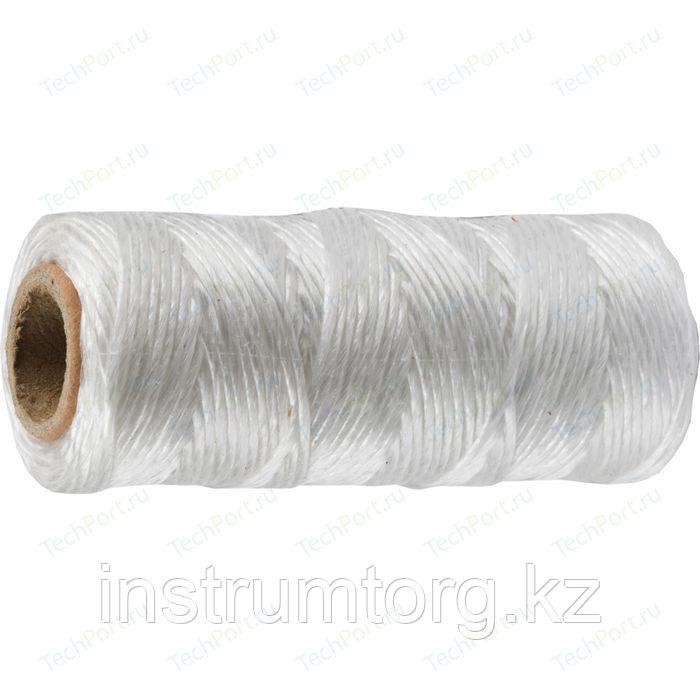 Шпагат STAYER многоцелевой полипропиленовый, d=1,5 мм, белый, 60 м, 32 кгс, 0,8 ктекс