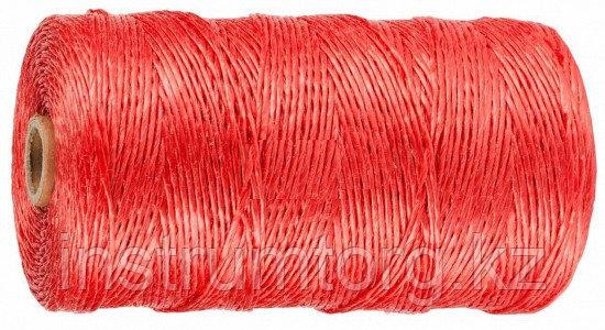 Шпагат STAYER многоцелевой полипропиленовый, d=1,5 мм, красный, 60 м, 32 кгс, 0,8 ктекс
