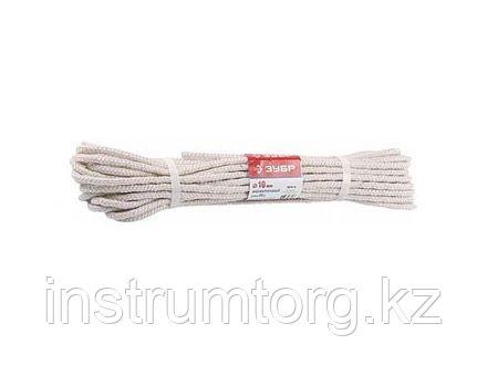 Фал ЗУБР капроновый, d=8,0 мм, 20 м, 1100 кгс, 35 ктекс