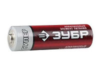 "Батарейка ЗУБР ""TURBO MAX"" щелочная (алкалиновая), тип AA, 1,5В, 4шт на карточке"
