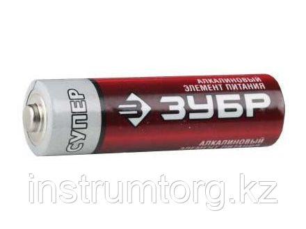 "Батарейка ЗУБР ""TURBO MAX"" щелочная (алкалиновая), тип AA, 1,5В, 2шт на карточке"