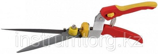Ножницы GRINDA для стрижки травы,пластмассовые ручки, поворотный механизм 180 гр, 368мм