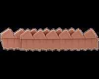 Ограждение GRINDA для клумб, цвет коричневый, 2 секции