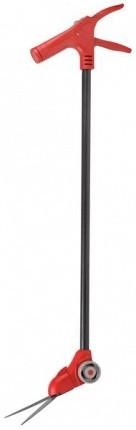 Ножницы GRINDA для стрижки травы, поворотный механизм 180 гр, на удлинителе и подставке с колесиками, 965мм