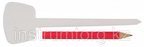 """Набор меток-ориентиров GRINDA для засеянных грядок: 25 ярлыков (тип - """"Т"""") + карандаш, 125 мм"""