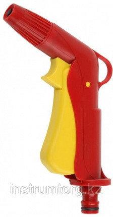 GRINDA плавная регулировка, курок сзади, пистолет поливочный пластиковый