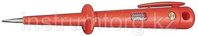 Пробник СВЕТОЗАР электрический, цельнолитой пластмассовый корпус, на карточке, 100-250 В, 190мм