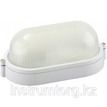 Светильник уличный СВЕТОЗАР влагозащищенный, овал, цвет белый, 60Вт