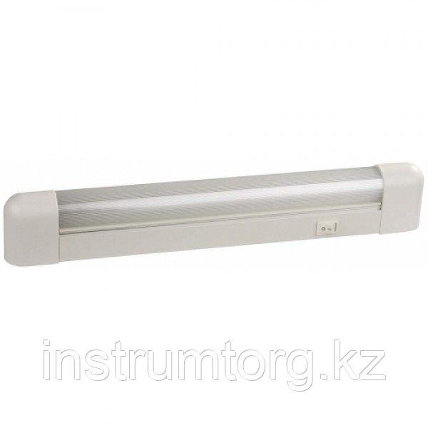 """Светильник люминесцентный СВЕТОЗАР модель """"СЛ-615"""" с плафоном и выключателем,  лампа Т8, 490x35x62мм, 15Вт"""