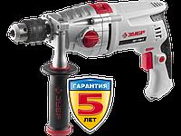Дрель ударная, ЗУБР Профессионал ЗДУ-1100-2 ЭРММ2, 2-скоростная, мет. корпус редуктора, патрон 13 мм, сталь-16 мм/бетон-16 мм/дерево-35 мм, 1100 Вт