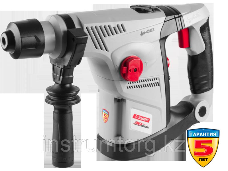 Перфоратор SDS-plus, ЗУБР ЗПВ-30-900 ВК, вертикальный, АВТ-антивибрационная система, 4.2Дж, 750об/мин,
