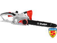 Пила цепная (электропила), ЗУБР ЗЦП-2001-02, поперечный двиг-ль, защита руки (тормоз цепи), масляный бачок,