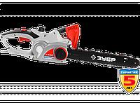 Пила цепная (электропила), ЗУБР ЗЦП-2001-02, поперечный двиг-ль, защита руки (тормоз цепи), масляный бачок, смена цепи без ключа, шина 40см, 2000 Вт
