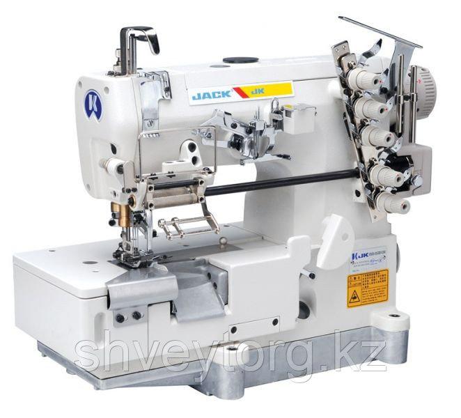 Плоскошовная промышленная машина JACK JK-8569АDI-05CBx356 для втачивания резинки