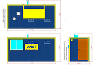 Дизельный Теплогенератор ТГВ-250 в блок-контейнере  , фото 1