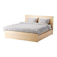 Кровать каркас 2 ящика МАЛЬМ дубовый шпон 160х200 Лурой ИКЕА, IKEA, фото 1