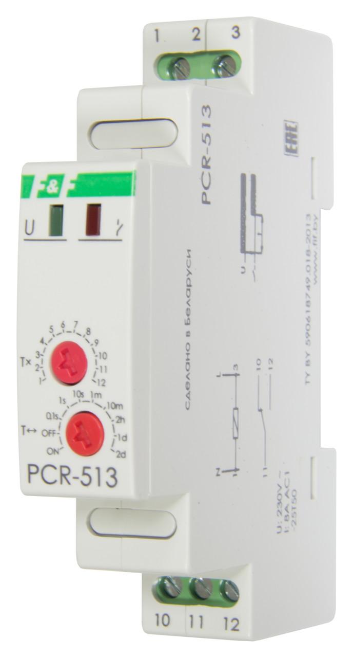 PCR-513 Реле времени, C задержкой включения. Напряжение 230 В AC, Выдержка времени 0,1 сек. – 24 суток, 8А