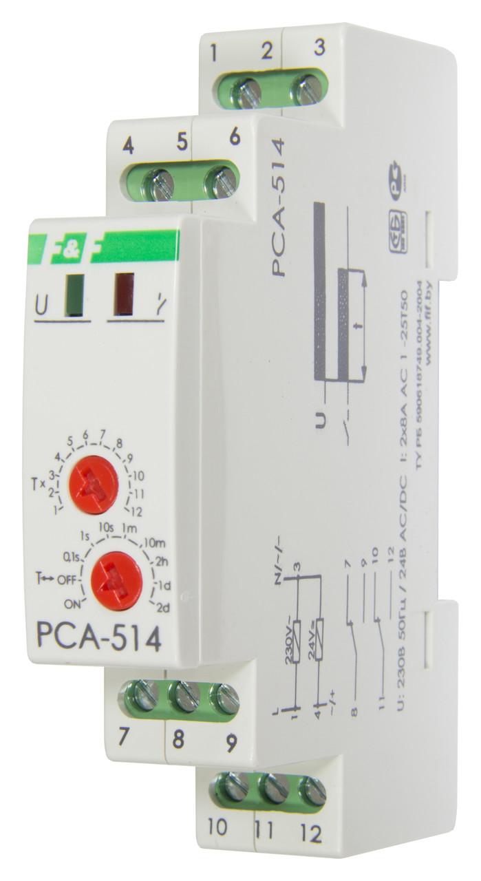 PCA-514 Реле времени, С задержкой выключения. Напряжение 230 В; 50 Гц, 24В AC/DC, Диапазон