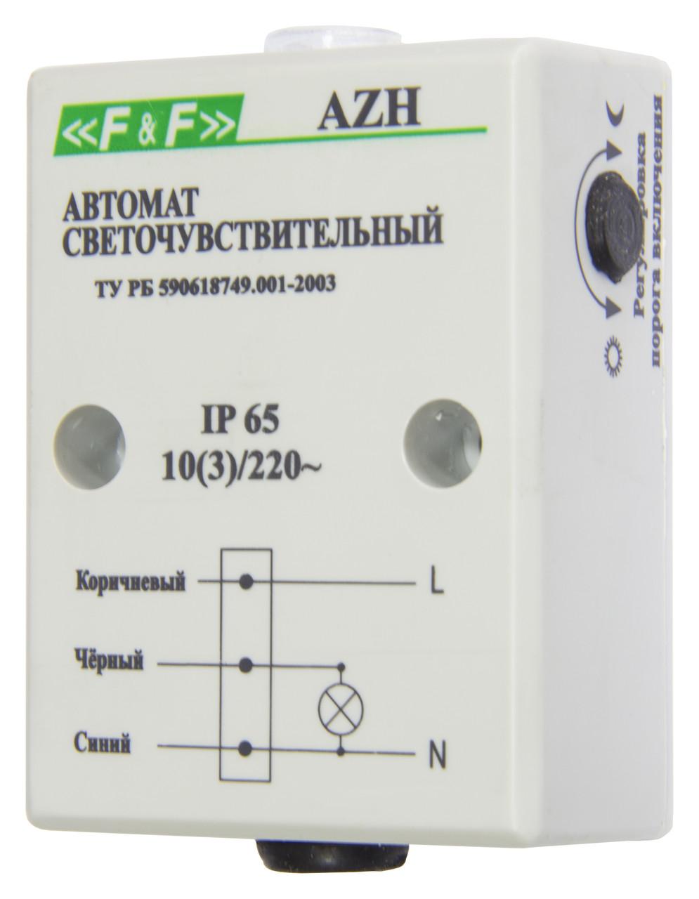 AZH-S Фотореле (автоматы светочувствительные), Встроенный фотодатчик. Максимальный ток нагрузки - 10 А.
