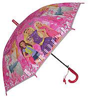 """Зонт-трость детский розовый """"Barbie"""" (класс 1)"""