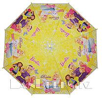 """Зонт-трость детский желтый """"Barbie"""" (класс 1)"""