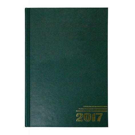 Ежедневник датированный, формат А5, 2017г, зеленый, фото 2
