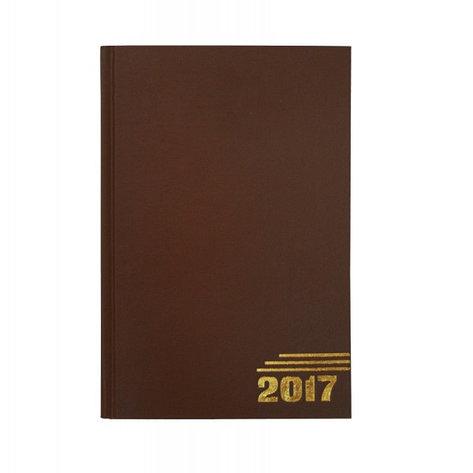 Ежедневник датированный, формат А5, 2017г, коричневый, фото 2