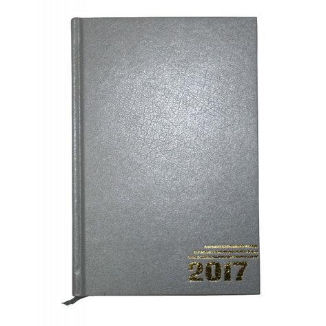 Ежедневник датированный, формат А5, 2017г, серый, фото 2