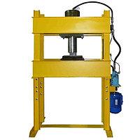 Пресс гаражный электрогидравлический 40 тонн с переносным ножным приводом (провод от 2 м.) Р-342М-Н