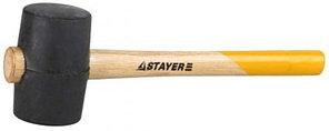 """Киянка STAYER """"STANDARD"""" резиновая, с деревянной рукояткой, 0,34кг"""