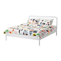 Кровать НЕСТТУН белый 140х200 Лурой ИКЕА, IKEA, фото 1