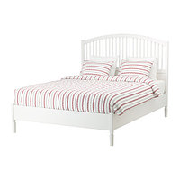 Кровать каркас ТИССЕДАЛЬ белый 160х200 ИКЕА, IKEA, фото 1