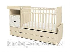 Кроватка-трансформер СКВ-5 Жираф (бежевый-белый)