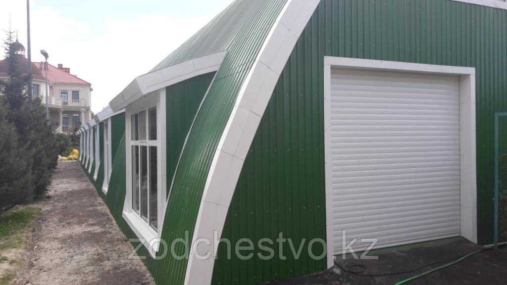 Строительство бескаркасных зданий из стали с полимерным покрытием.