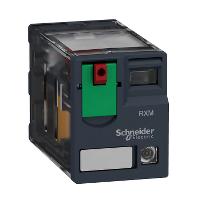 Реле 2 переключающих контакта, с индикатором, 12 А, 24 В пер. ток, 50/60 Hz