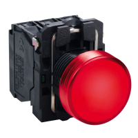 XB5AVB4 Сигн. Лампа 22мм 24в красная xb5avb4